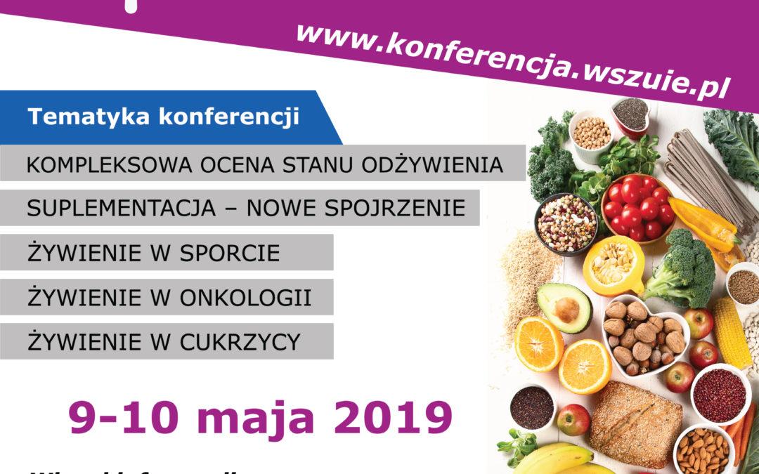 """Konferencja """"Dietetyka – wyzwania 2019 roku""""  9-10 maja 2019 Hotel Mercure Poznań Centrum"""