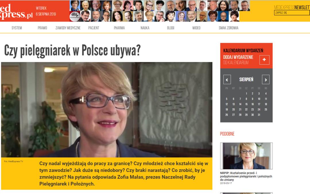 Medexpress: Czy pielęgniarek w Polsce ubywa?