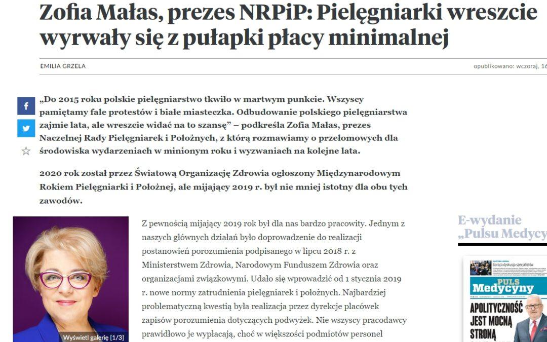 Wywiad Pulsu Medycyny z Zofią Małas Prezes NRPiP
