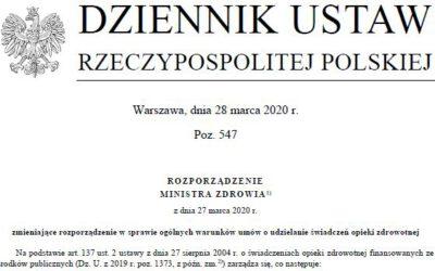 Mamy Rozporządzenie przedłużające tzw. Pakiet Szumowskiego do końca 2020 roku!