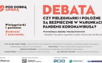 """Debata: """"Czypielęgniarki ipołożne są bezpieczne wwarunkach pandemii koronawirusa?"""""""