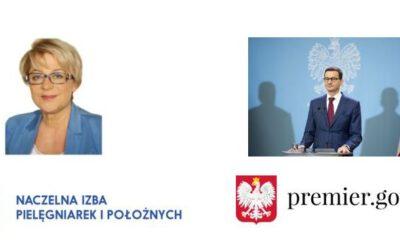 Informacja ospotkaniu Zofii Małas Prezes NRPiP zPrezesem Rady Ministrów orazMinistrem Zdrowia