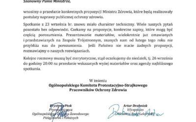 24 września 2021 r. Ogólnopolski Protest Pracowników Ochrony Zdrowia