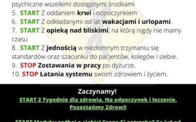 1 października 2021 r. Ogólnopolski Protest Pracowników Ochrony Zdrowia